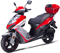 "ZNEN 150cc Scooter with Triple Halogen Headlights, LED Tailight, Dual Layer 13"" DURO Sport Tires, Dual Shock Suspension, ABS Front Brake, Remote start, Stainless Steel Nuts and Bolts, Rear Trunk. Free shipping to your door, free scooter helmet."