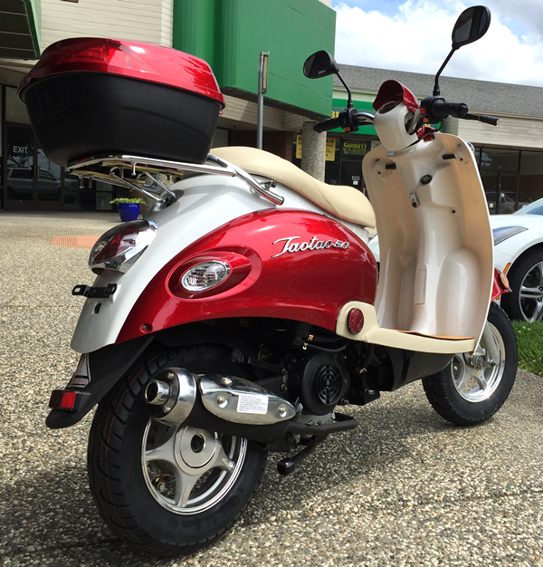 Free Ship New 49cc Moped Retro Vintage Pink Gas Scooter