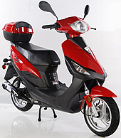 "TAOTAO HUNTER 50cc Scooter CY50-T3 Fully Automatic with Rear Trunk, 12"" Tires & Polished Aluminum Rims, Dual Rear Shocks"