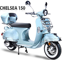 BMS 150cc moped scooter CHELSEA-150 Fully Automatic EPA/DOT/CARB (99.9% Assembled). Free shipping to your door, free helmet.