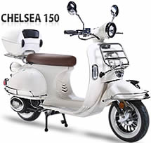 BMS 150cc moped scooter CHELSEA-150 w/ Remote Control EPA/DOT/CARB