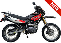"""STORM-250"" Dual Sport 250cc Enduro Bike Motorcycle Air Cooled Balance Shaft Engine, Manual 5 Speed, Dual Disc Brakes, Inverted Forks, 17""/19"" Street Tires, 70 MPH DB-08-250. Free shipping to your door. Free helmet. 1 year warranty."