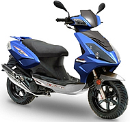 "TAOTAO 50cc Moped Scooter with 12"" Big Tires and Big Rear Trunk (GT5-50)"