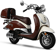 2015 BMS Heritage 150cc 2-Tone Scooter Fully Automtic CVT, EPA/DOT/CARB (99.9% assembled)