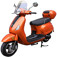 "ROKETA 50cc ROMANS-50 Scooter Fully Automatic, 10"" Tires, Front Disc Brake (MC-130-50). Free shipping to your door, free scooter helmet, 1 year warranty."