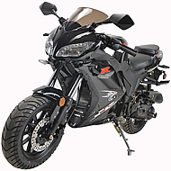 """98% Assembled 50cc Street Bike Fully Automatic with LED Lights, 12"""" Big Tires & Dual Rear Shocks MC-155-50, free shipping to your door, free helmet."""