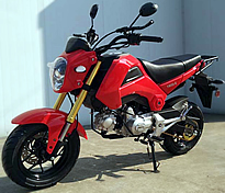 """98% Assembled 50cc Street Bike Manual 4 Speed with 12"""" Tires, Inverted (Upside Down) Forks, Dual Disc Brakes (MC-156-50), free shipping to your door, free helmet."""