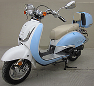 2015 ROKETA 50cc VINTAGE-50 Scooter Fully Automatic MC-16K-50