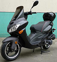 """99% Assembled ROKETA 150cc Scooter TOURING-150 w/ Windshield, 13"""" Big Tires (MC-46J-150). Free shipping to your door with a free scooter helmet. 1 year warranty."""