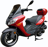 "99% Assembled ROKETA 150cc Scooter TOURING-150 w/ Windshield, 13"" Big Tires (MC-46J-150). Free shipping to your door with a free scooter helmet. 1 year warranty."