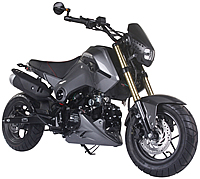 """85% Assembled ICE BEAR 125cc Street Bike Motorcycle Air Cooled Manual 4 Speed, Dual Disc Brakes, Inverted Forks, 12"""" Tires (PMZ125-1). Free shipping to your door. Free helmet. 1 year warranty."""