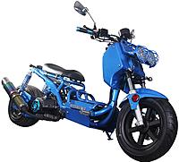 "ICE BEAR ""GEN III MADDOG"" 150cc Scooter Street Bike with LED Lights, Digital Dash, Fancy Muffler (PMZ150-19N)"