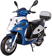 "NEW! ICE BEAR ACE 50cc Moped Scooter with 12"" Big Tires Fully Automatic Free Rear Trunk PMZ50-12. Free shipping to your door, free scooter helmet, 1 year bumper to bumper warranty."