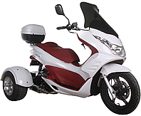 "Ice Bear ""Q6"" 150cc FULL SIZE Motor Trike Scooter PST150-17 w/ Windshield & 14"" Tire"