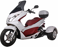 "Ice Bear ""Q6"" 50cc FULL SIZE Motor Trike Scooter PST50-17 w/ Windshield & 14"" Tire (Motorcycle license is not needed)"
