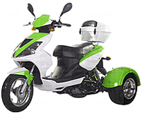 Ice Bear SPORTY 50cc Motor Trike Moped Scooter PST50-8 (Motorcycle license is not needed)