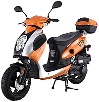 "CARB Approved TAOTAO 150cc Scooter Moped POWERMAX 150 with 12"" Tires. Free shipping to door, free lift-gate service, free helmet, free 1-year bumper to bumper warranty."