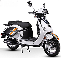 "BMS Retro 150cc moped scooter PREMIER 150 w/ Dual Disc Brakes, 12"" full size tires"