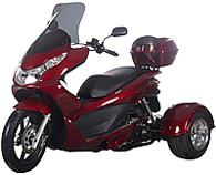 """Ice Bear """"Q6"""" 50cc FULL SIZE Motor Trike Scooter PST50-17 w/ Windshield & 14"""" Tire (Motorcycle license is not needed)"""