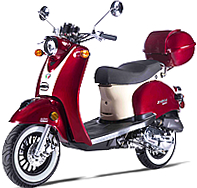 99.9% Assembled ZNEN SNAIL 50cc Moped Scooter with Remote Start, Security Alarm, rear trunk, USB Port, White Wall Tires EPA/DOT/CARB 99.9% assembled. Free shipping to door, free helmet and 1 year bumper to bumper warranty.
