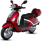 "2015 BMS Retro 150cc moped scooter PREMIER 150 w/ Dual Disc Brakes, 12"" full size tires"