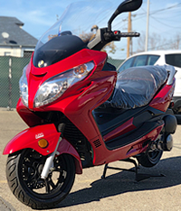 ZNEN 150cc VISTA King Size Touring Scooter with Big windshield, Remote start, Anti-theft Alarm, Radio, MP3, LED lights, dual USB ports, speakers, disc brakes. EPA, DOT, CARB Approved, 99.9% assembled. Free shipping to your door, free helmet