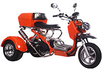 Ice Bear VIKING 150cc Motor Trike Moped Scooter PST150-8 (Light Weight Design) +Oversized Luggage Box