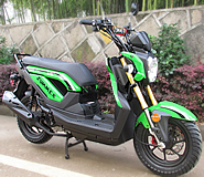 """TaoTao 50cc Moped Scooter ZUMMER-50 Fully Automatic w/ Durable & Sleek Body, 12"""" Big Tires & Dual Rear Shocks, free shipping to your door!"""