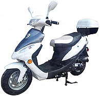 ICE BEAR 50cc Scooter with Matching Rear Trunk 10